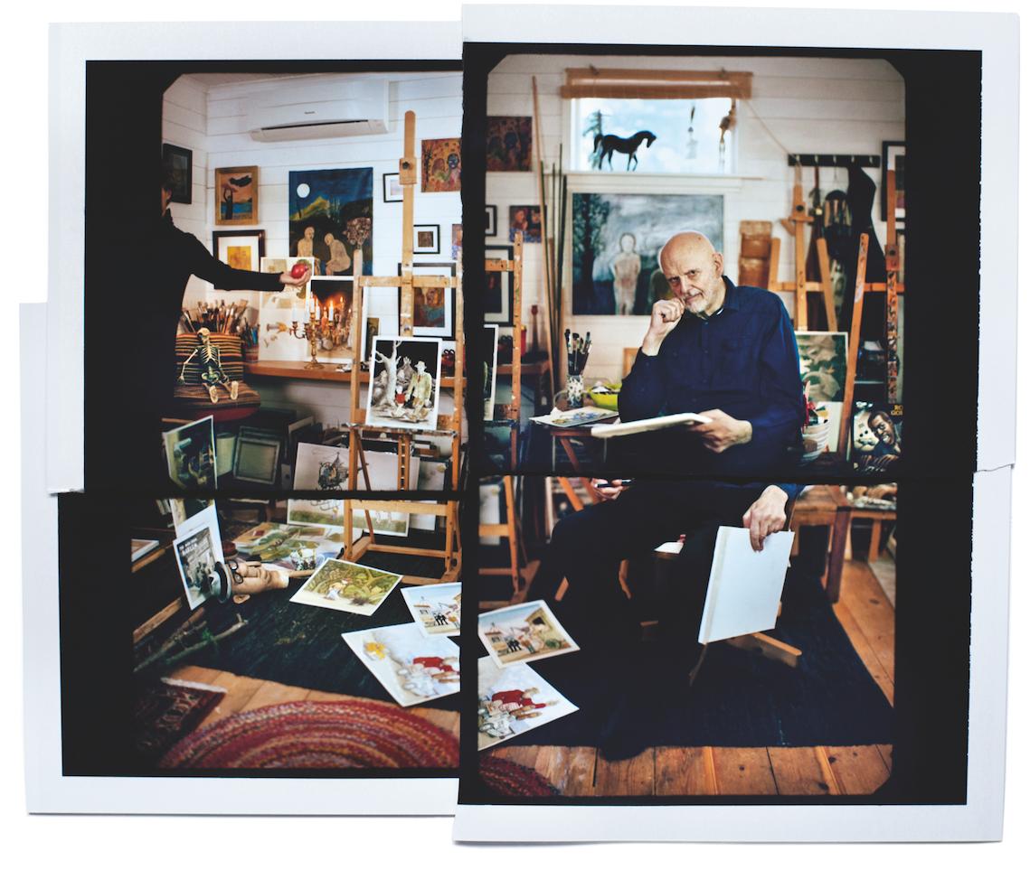 Jan Lööf i sin älskade ateljé. Han delar sin tid mellan Sverige och Grekland.