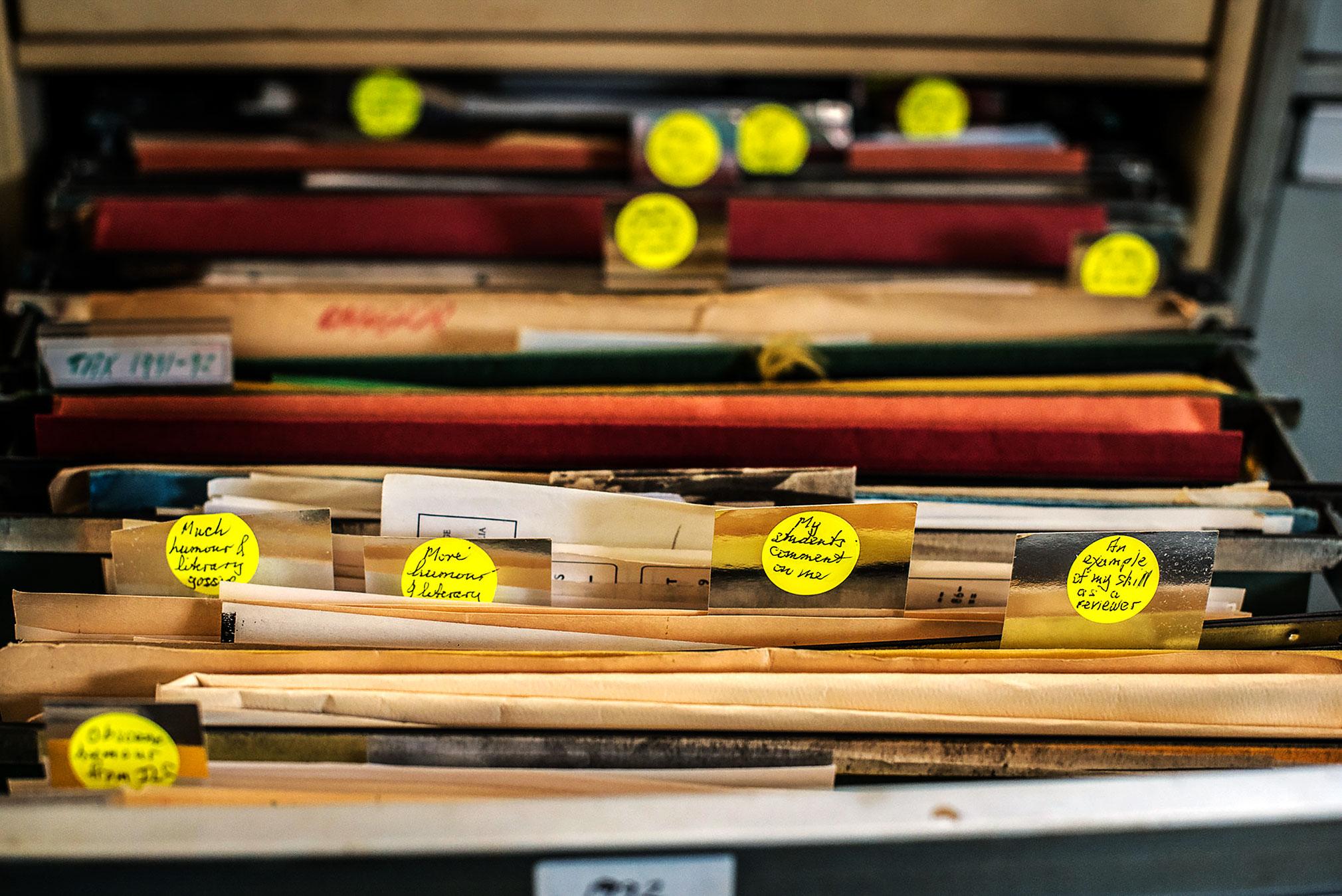 Gerald Murnane har inte mindre än tre stora arkiv. Det finns en hel sajt där man kan botanisera runt i dem.