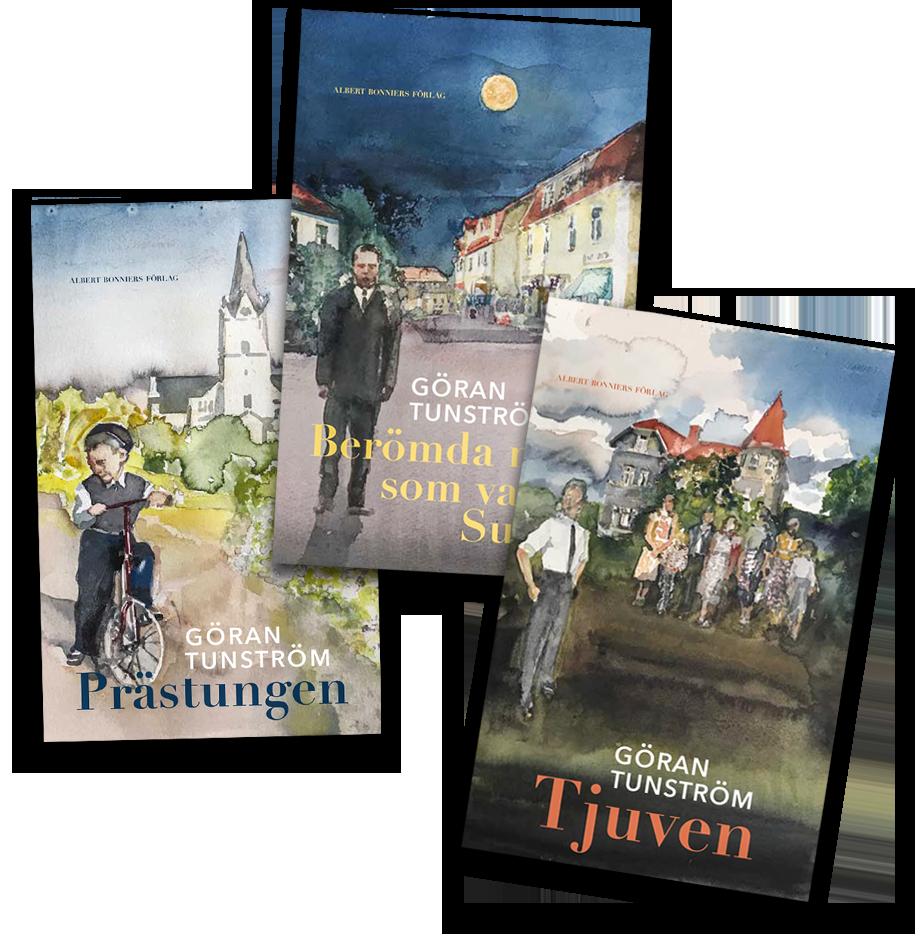 Lars Lerin har gjort omslagen till nyutgåvorna av Göran Tunströms böcker