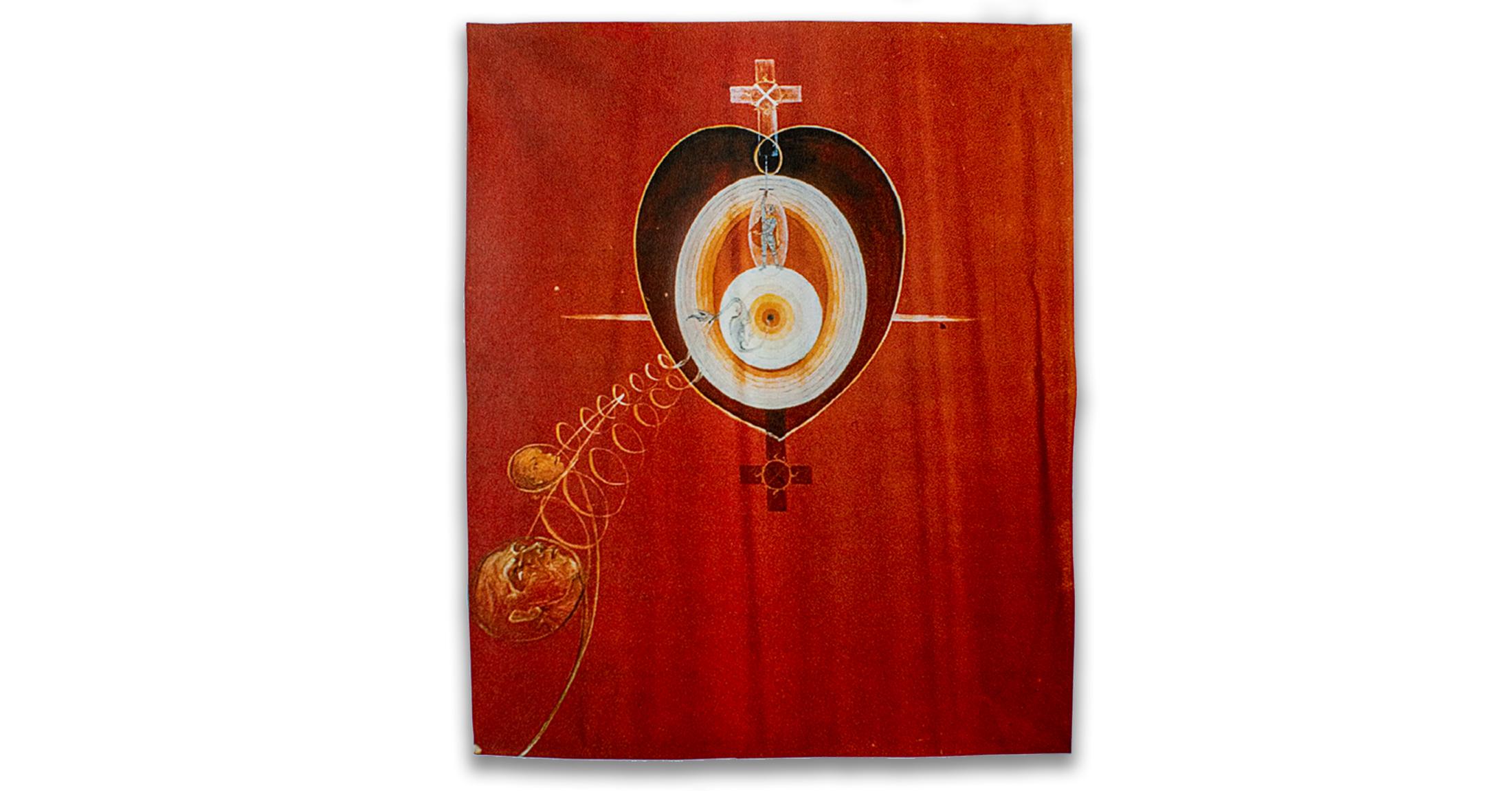 Hilma af Klints försvunna målning Duvan 10.