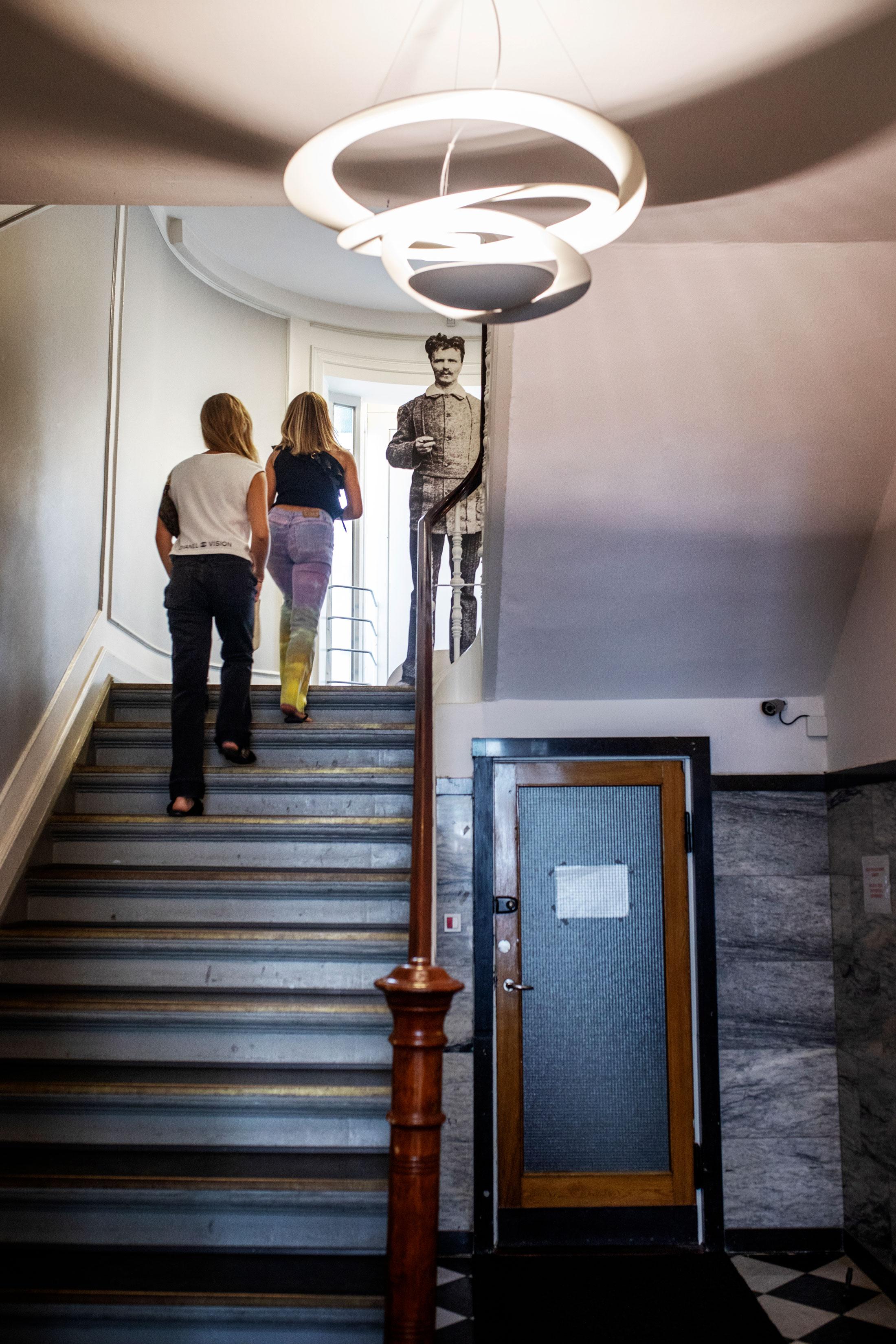 Strindberg bodde först på Hotell Leopold i Köpenhamn.