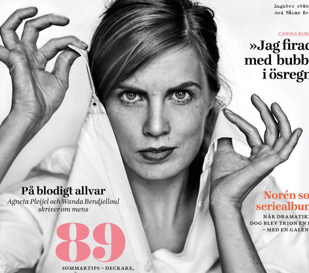 Vi Läsers omslag med Lydia Sandgren